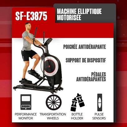 elliptique magnétique sunny health fitness